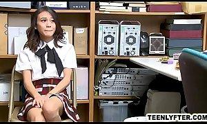 Cop fucks asian schoolgirl for shoplifting