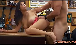 Sweet woman screwed by nasty pawn dude at the pawnshop