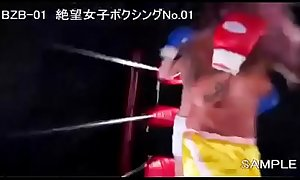 Yuni DESTROYS skinny female boxing opponent - BZB01 Japan Sample