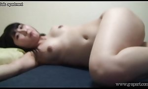 Japanese Girl Maria Wakatsuki is Naked Exercise in the Gals Apartment