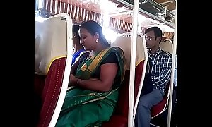 Aunty in bus.. blouse nipple visible... Watch carefully 1