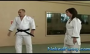 Naked and Funny Judo Training Surprise