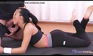 Yoga trainer can't resist my wife