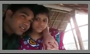Two couples romantic in hut