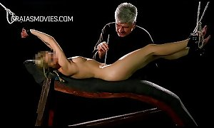 Young slave poked with needles