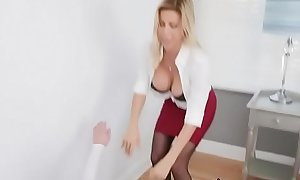 Cougar Alexis Fawx Makes Peeping Tom Eat Her Pussy