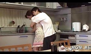 Perverted japanese older licks her lover all over his body