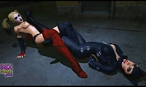 Catwoman organized an orgy Batman and called a Harley