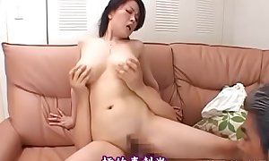 Beautiful asian older plays with water on her juicy snatch