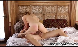 Teasing babe rides cock and receives oral