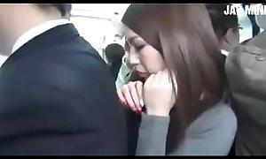 Japanese Chick Hinata Tachibana On Public Bus