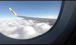 PUBLIC AIRPLANE Handjob and Blowjob - Lexi Aaane