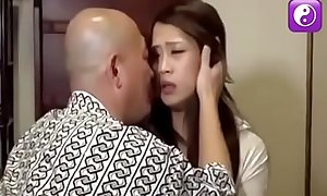 Japanese shemale is fucked by her father and brother 1
