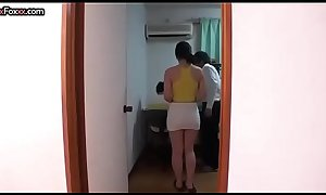 Japanese lovely mom has sex with her son's private teacher