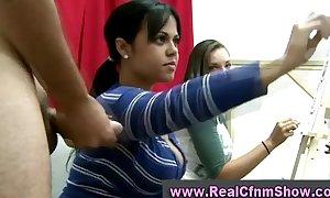 Cfnm combo unite bungler girls
