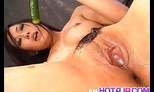 Yui komine receives cucumber