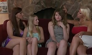 Virgin legal age teenager and her friend's mama - alura jenson, scarlett fever
