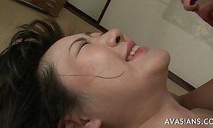 Asian dirty slut wife takes anal