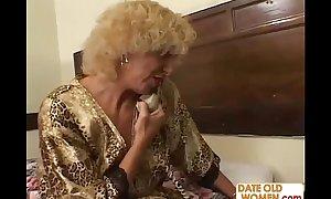 Grandmother shagging juvenile cookie