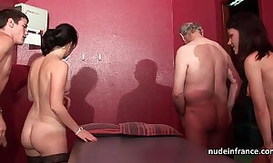 Juvenile french women group-fucked with an increment of sodomized approximately 4some with papy voyeur
