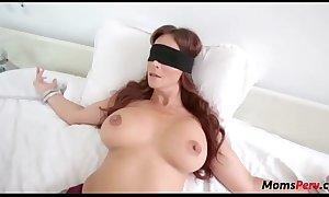 Perv sprog copulates mom's brashness shortly shes blindfolded!