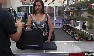 Latina milf sophie leon sucks ramrod in the pawnshop