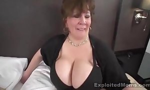 Grown up chunky boob bbw floosie in interracial motion picture