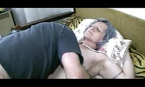 Old granny acquire muff licked by youthful chap