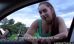 Redhead dilettante legal age teenager fucking outdoors pov