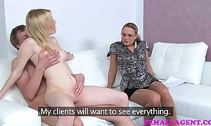 Femaleagent dramatic casting as cheating boyfriend can't resist milfs advances