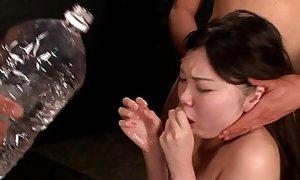 Girl coercive mouth gagging and vomit puke puking vomiting