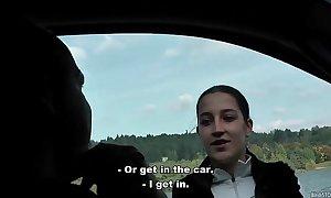 Bitch stop - real czech hitchhiker lenka drilled