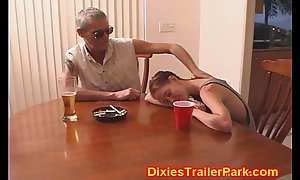 Tiny legal age teenager receives dad drilled