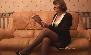 Gradual granny concerning nylons plays nearby In US breeks intermittently strips