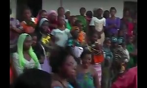 African battalion dance coupled with fake love tunnel