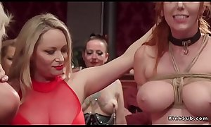 Bdsm orgy rough sex and vibrating