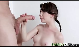 Goodlooking Step-Dad Gets Blowjob From Daughter In Shower