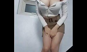 Korean girl show her big boobs in public