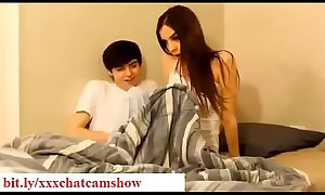Brother seduces his sleepy sister while sleeping in bedroom taboo