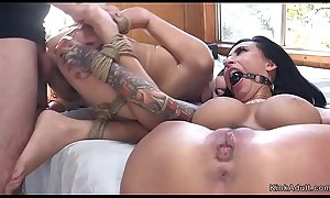 Huge cock hubby anal threesome bdsm