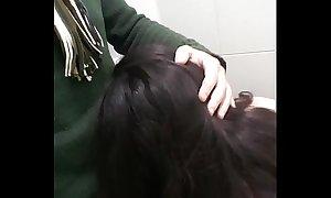 Blowjob in a public Romanian's Museum bathroom(short clip)