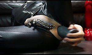 Huge dilldo anal masturbation with B-10 Torpedo