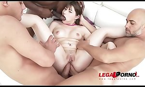 Luna Rival Intense DAP porn and xxx DP with Three Creampies