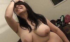 Chubby hairy slut toys her fuck hole
