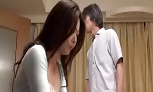 Japanese Mature mom sodomized by two sons