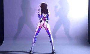 D.va-Dancing-Overwatch - Best Free 3D Cartoon