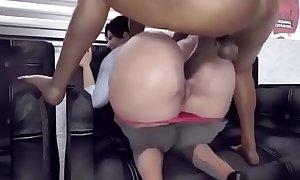 Fucking Gigantic Ass in Public Anal Sex.