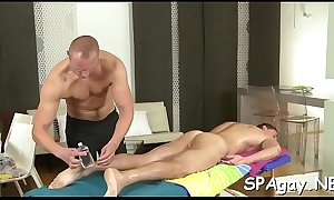 Unfathomable anal massage for tired gay fellow