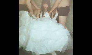 CHINESE TS XINGNAI 2 wedding bride gangbang