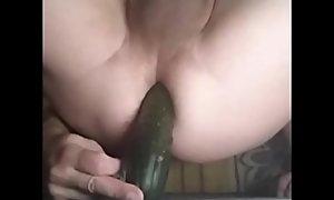 Cucumber Versus sissy ass
